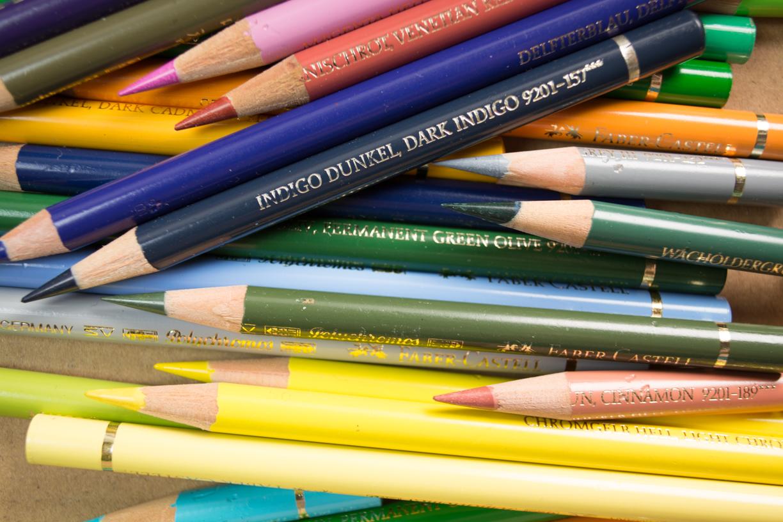 Über das Zeichnen mit Buntstiften