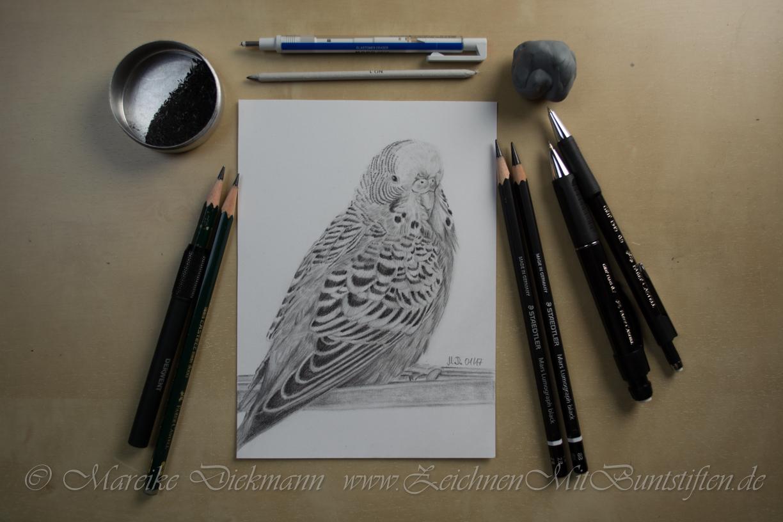 Materialien fürs Zeichnen mit Bleistift und Graphit