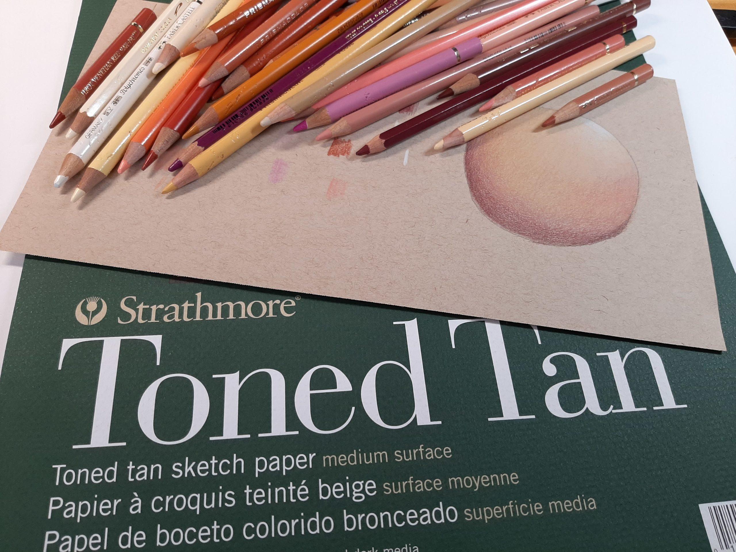 Hautfarben Typ: hell für das Strathmore Toned Tan Papier