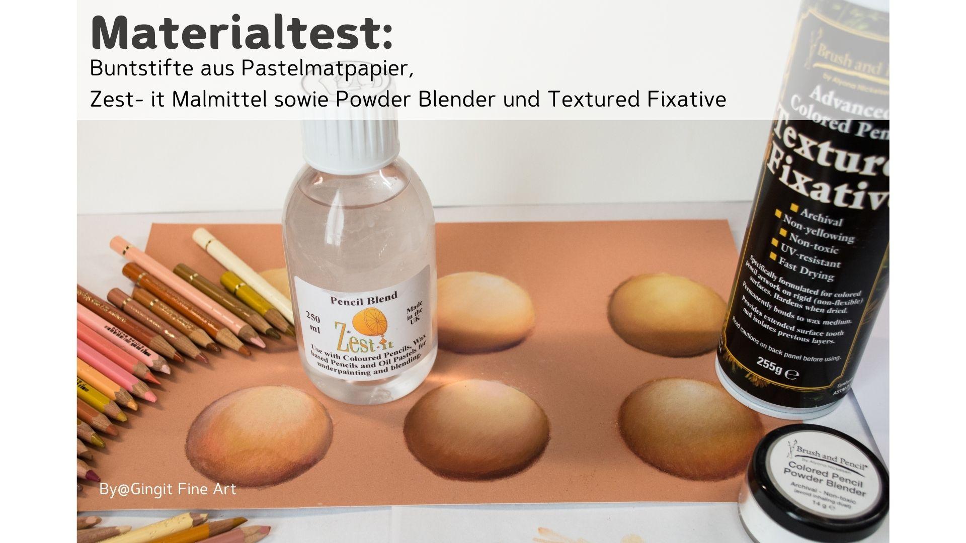Test Hautfarben zeichnen auf Pastelmatpapier- aber mit Buntstiften